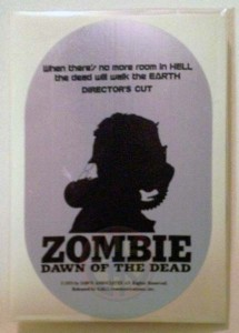 DAWN OF THE DEAD JAPANESE 1994 GAGA 1994 CHROME STICKER