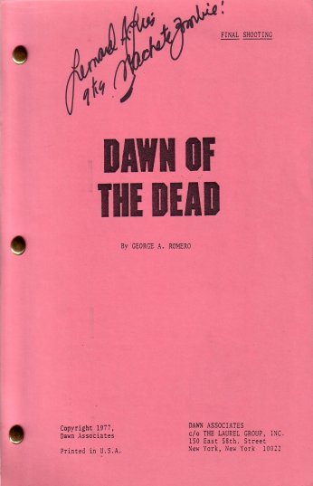 DAWN OF THE DEAD Final Shooting Script Red