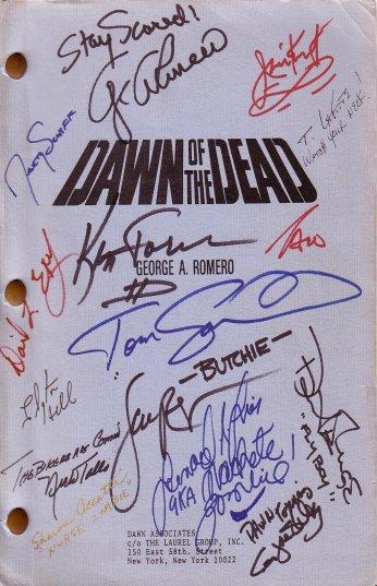 DAWN OF THE DEAD Original Autographed Shooting Script