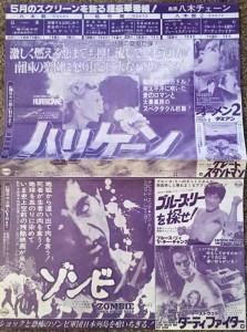 Dawn of the Dead Japanese Charishi Flyer Advert