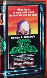 DAWN OF THE DEAD AUSTRALIAN R RATED CBS FOX VHS VIDEO