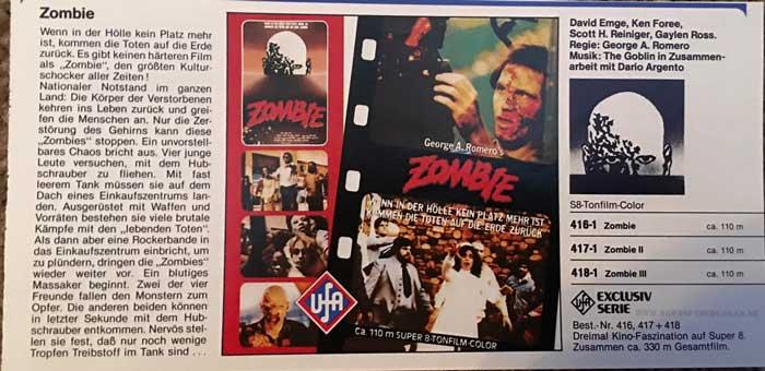 German Zombie Super 8 advertisement