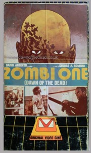 DAWN OF THE DEAD Lebanese OVC VHS ZOMBI ONE