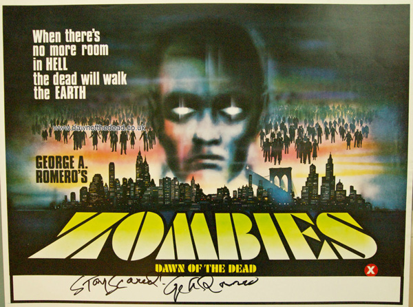 Zombies Dawn of the dead mini quad poster