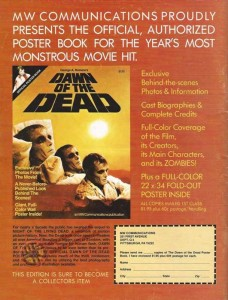 DAWN OF THE DEAD POSTER BOOK ADVERTISEMENT