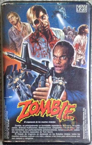 Dawn of the Dead Spanish New Line Zombie VHS 3093 - 15046598
