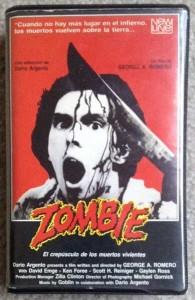 Dawn of the Dea Spanish New Line Zombie VHS 11473559