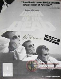 DAWN OF THE DEAD THORN EMI VIDEO ADVERTISEMENT
