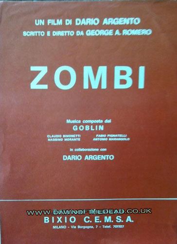 Zombie Dawn of the Dead Goblin Sheet Music