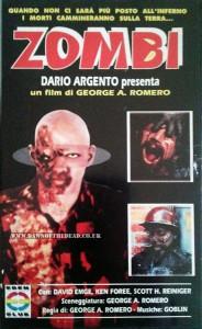 DAWN OF THE DEAD ITALIAN EDEN CLUB VHS VIDEO