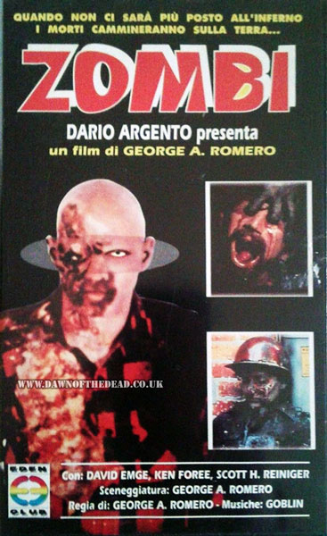 DAWN OF THE DEAD ITALIAN EDEN CLUB VHS VIDEO
