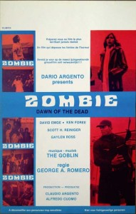 dawn of the Dead Zombie - Belgian Poster