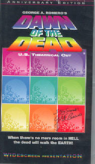 DAWN OF THE DEAD Anchor Bay 20th Anniversary Theatrical Version VHS