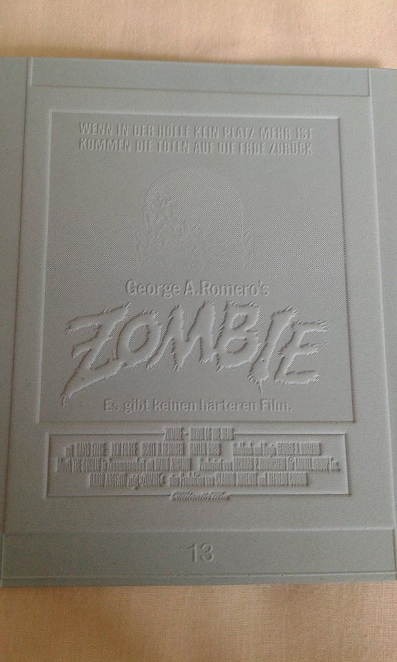 DAWN OF THE DEAD German Stereo press plate Printer flog