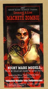 DAWN OF THE DEAD NIGHTMARE MODELS MACHETE ZOMBIE FIGURE