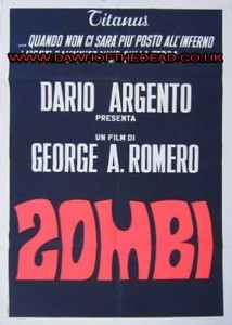 DAWN OF THE DEAD ZOMBI ITALIAN 2 SHEET POSTER V1