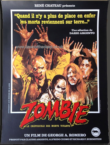 Dawn of the dead zombie French Poster