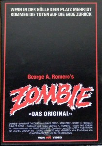 Dawn of the Dead Zombie German VHS PAL VPS Video