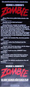 Dawn of the Dead Zombie German Insert Style Poster