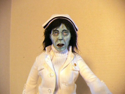 Dawn of the dead Custom Made Nurse Zombie Figure