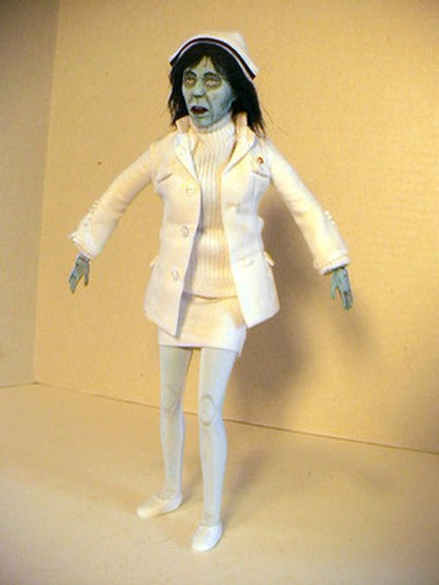 Dawn of the Dead Custom Nurse Zombie Figure