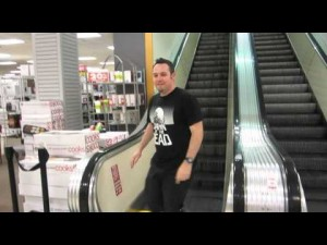 Dawn of the Dead JC Pennys Escalator Slide  |  Monroeville Mall | Bob & Sandee