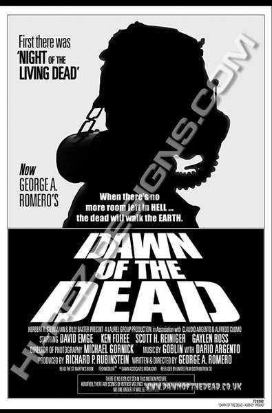 dawn of the dead - hi-rez designs bootleg poster - www.dawnofthedead.co.uk
