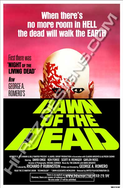 Dawn of the Dead - Hi Rez Designs - Green Logo Bootleg One Sheet Poster