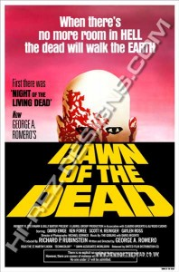 DAWN OF THE DEAD – HI-REZ DESIGNS – BOOTLEG POSTER – YELLOW ONE SHEET