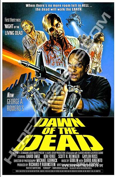 Dawn of the Dead - Hi Rez Designs - bootleg International Poster
