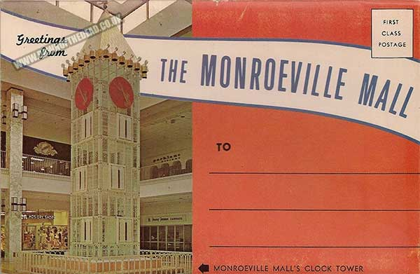 Postcard souvenir booklet of images taken at the Monroeville Mall