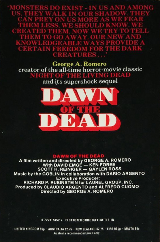 Dawn of the Dead Sphere Paperback Book UK back