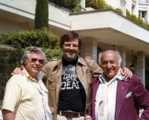 George A Romero Herbert R Steinmann Billy Baxter in CANNES