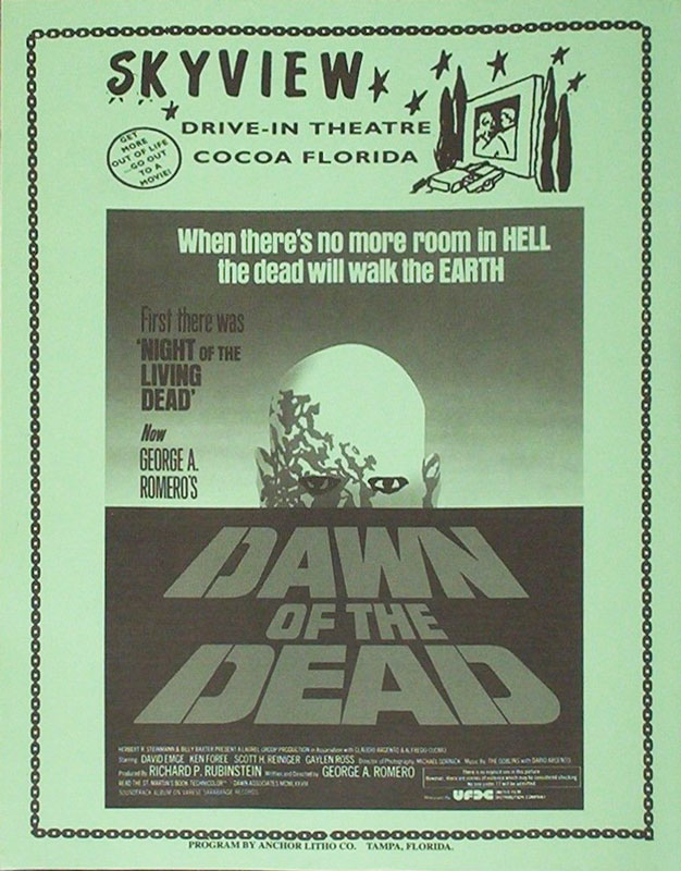 DAWN OF THE DEAD Skyview Drive in FLYER