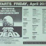 DAWN OF THE DEAD NYC OPENING HANDBILL NYC 4/20/1979