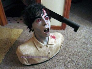 Dawn of the Dead Custom Made Machete Zombie Bust