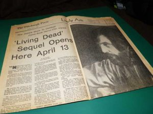 DAWN OF THE DEAD PITTSBURGH PRESS LIVELY ARTS SECTION APRIL 1 1979