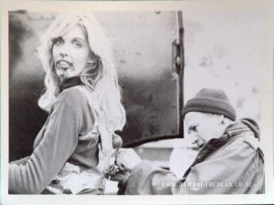 Dawn of the Dead behind the scenes photo Jeanie Jefferies the Blonde Zombie