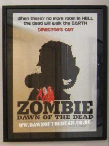 Dawn of the Dead Zombie Japan Directors Cut theatrical Release Hansai B2 Chrome Poster
