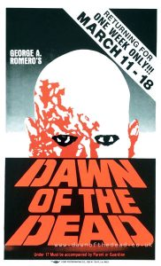 DAWN OF THE DEAD Boxing Style Cardboard MOVIE POSTER Colby Poster