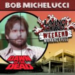 Bob Michelucci as the Scope Zombie in George A. Romero's Dawn of the Dead. After the Living Dead take over the world, a group of survivors hold up in a giant shopping Mall in Monroevill, Pittsburgh PA Join us June 9th 10th and 11th in the Monroeville Mall for a Dawn of the Dead Reunion