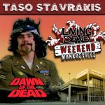 Taso Stavrakis as Sledge, Taso was also a stuntman in George A. Romero's Dawn of the Dead. After the Living Dead take over the world, a group of survivors hold up in a giant shopping Mall in Monroevill, Pittsburgh PA Join us June 9th 10th and 11th in the Monroeville Mall for a Dawn of the Dead Reunion