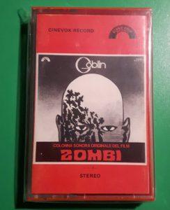 Dawn of the Dead Zombie original Italian Cinevox cassette Goblin