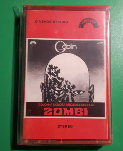 Goblin Dawn of the Dead Zombie original Italian Cinevox cassette Rare