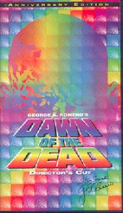 DAWN OF THE DEAD Anchor Bay Directors Cut Pan and Scan edition VHS