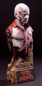 DAWN OF THE DEAD Quarantine Studio Airport Zombie Bust