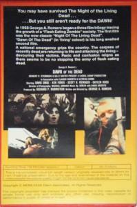 DAWN OF THE DEAD Australian Uncut VHS Whiteline Pictures