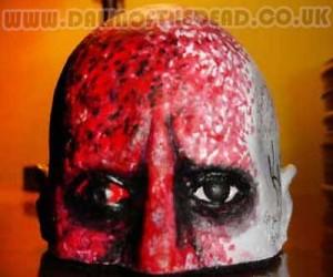 Dawn of the Dead Bald Head Airport Zombie Sculpture Chris Stavrakis