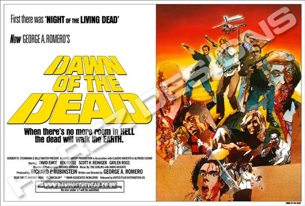 Dawn of the Dead - Hi Rez Designs - Bootleg Festival Quad Poster