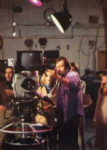 Behind the scenes George Romero Directing Gaylen Ross Photo